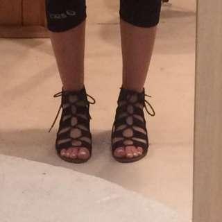 Suede Gladiator Summer Sandals