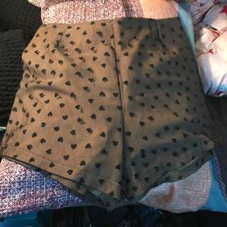 Nude Heart Shorts