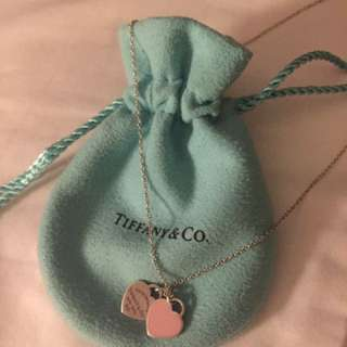 Tiffany & Co. Double Heart Pendant Necklace
