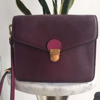 Marc By Marc Jacobs Purple Two Tone Crossbody Shoulder Bag