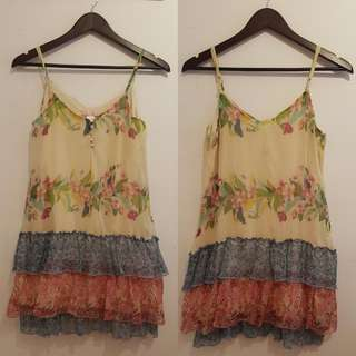 PRELOVED FLOWY FLORAL DRESS (perfect for summer and spring)