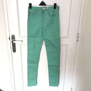 (NEW) Cotton On Color Turquoise Jeans
