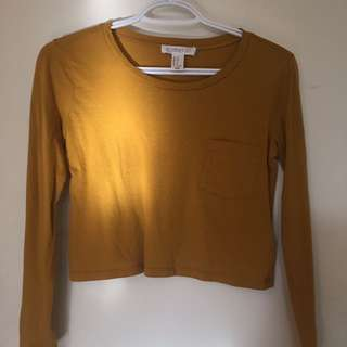 f21 Long Sleeve Crop Top