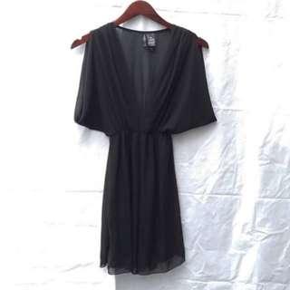 Bisou Bisou Black Chiffon Dress