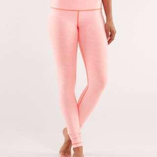 Lululemon Wunder Under Pant *R In Orange Pop/Coral Pink