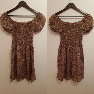 PRELOVED BROWN FLORAL DRESS