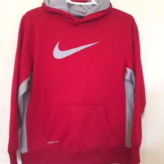 Red Nike Therma-Fit Hoodie