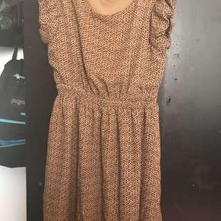 Tan Brown Dress