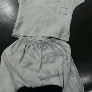 Kurta Linen Boy For Under 1 Year Baby