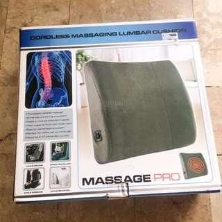Cordless Massaging Lumbar Cushion
