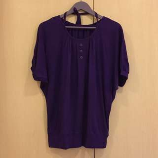 Purple Top Blouse