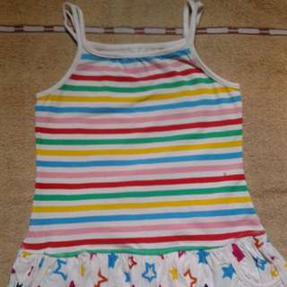 Multicolor bubble dress
