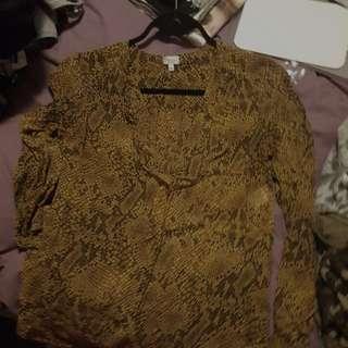 silk long sleeve blouse python design ainsley blouse