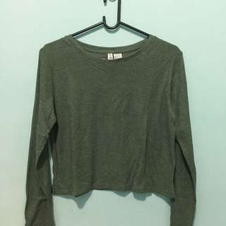 CROPTEE BASIC DIVIDED H&M