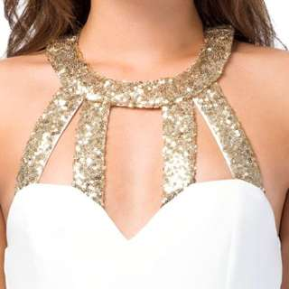 Tobi Xsmall White/Gold Dress