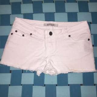 White Bluenotes Shorts