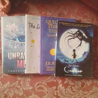 The Little Prince, Coraline, Quidditch Through The Ages, Unravel Me