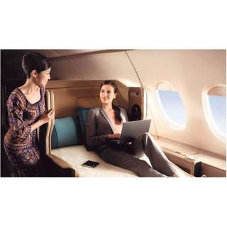Singapore Airline Business Class or First Class discount tickets
