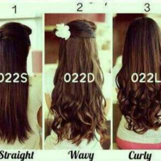 Hair Clip Big Layer Curly / Lurus / Wave