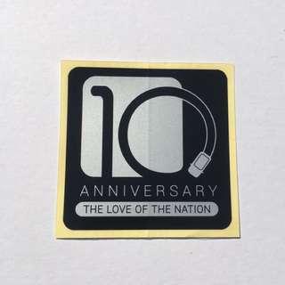Sticker Bonet Myvi Icon 10years