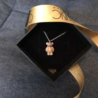 New Cubic Bear Necklace