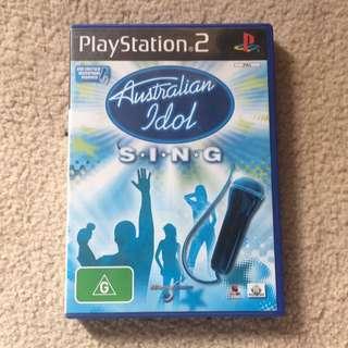 PS2 Australian Idol Sing Game.