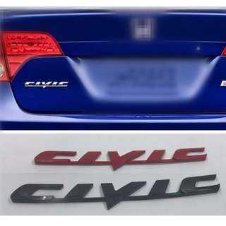 New Style Civic Car Rear Logo Emblem Badge Decal For Honda Civic