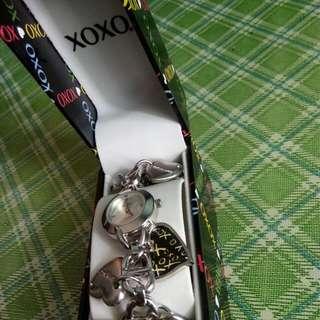 REPRICE!!! XOXO Women's Silver Dial Charm Bracelet Watch