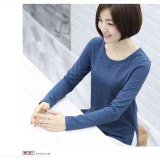 Blue Long-sleeve Top