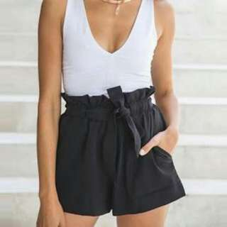 Paperbag Waist Tie Up Shorts