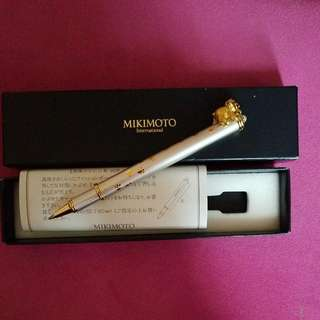 MIKIMOTO  Silver and Gold Bear Ball Point Pen 💌100% Authentic  and New💌