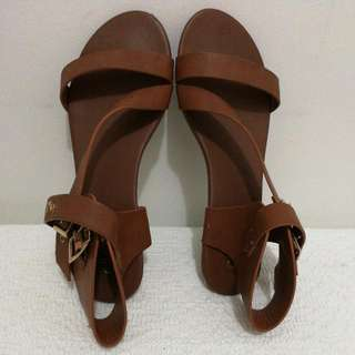 (Repriced) Centropelle Brown Flat Sandals