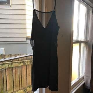 Lonely Hearts Black Slip Dress