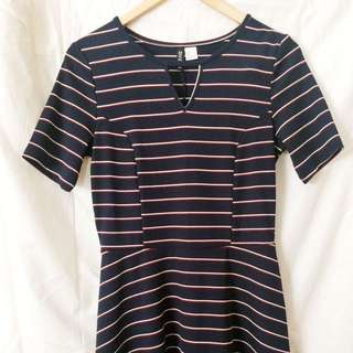 Blue Stripes Mini Dress - Divided by H&M