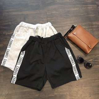 (New) CHANNEL SHORT (BLACK ONLY)