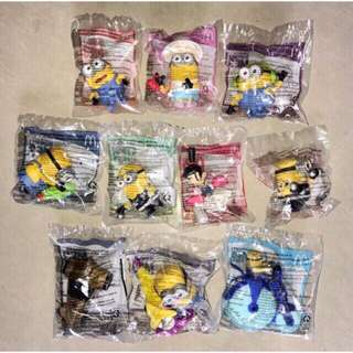 2017 MINIONS McDonald's Happy Meal DESPICABLE ME 3 Set Of 10