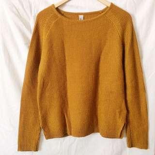 Pull & Bear Sweater - Mustard