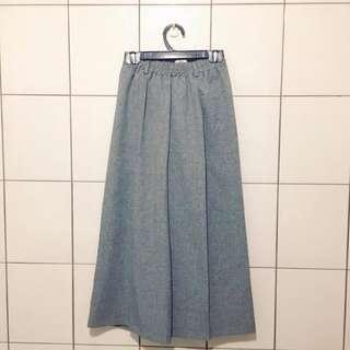 (降!)灰色壓線寬褲