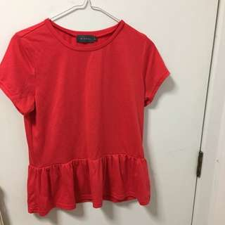 Red Frilly Top