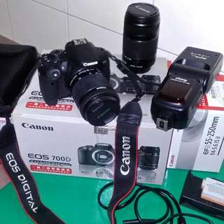 Canon 700D EF-S 18-55+EF-S 55-250 +SP595
