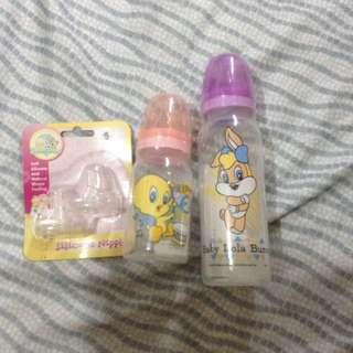 repriced! looney tunes baby bottles