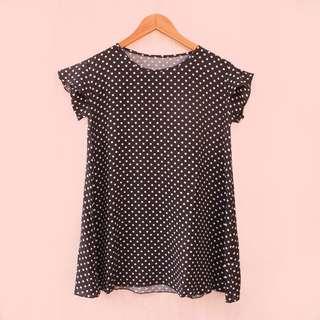 Polka Black Dress