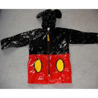 Mickey mouse raincoat, size 3, black & red  - shoulder to shoulder 31.5cm  - shoulder to sleeves 32cm long  - shoulder to bottom 52cm long   nearly new in excellent condition