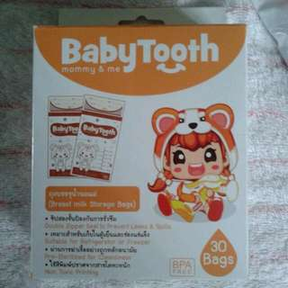 Babytooth milk bags