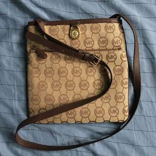 MICHAEL KORS brown fabric handbag