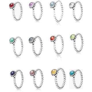 Pandora Rings - Birthstone
