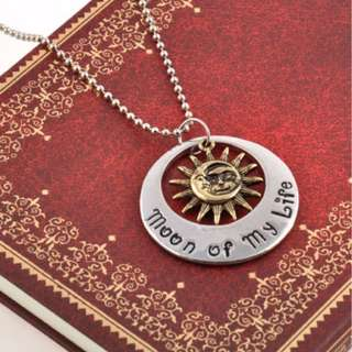 Game of Thrones Khal & Khaleesi Moon of My Life Pendant Vintage Necklace jewelry