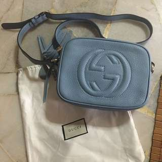NEW Gucci Soho Disco In Dusty Blue