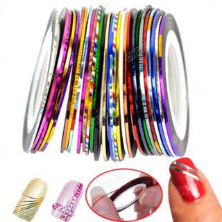 10Pcs Mixed Colors Rolls Striping Tape Line Nail Art DIY Decoration Sticke
