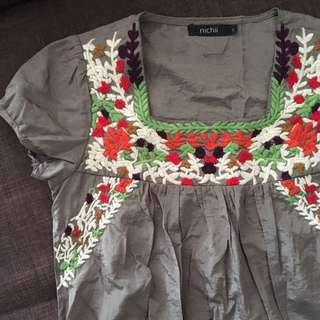 PL Embroidered Top